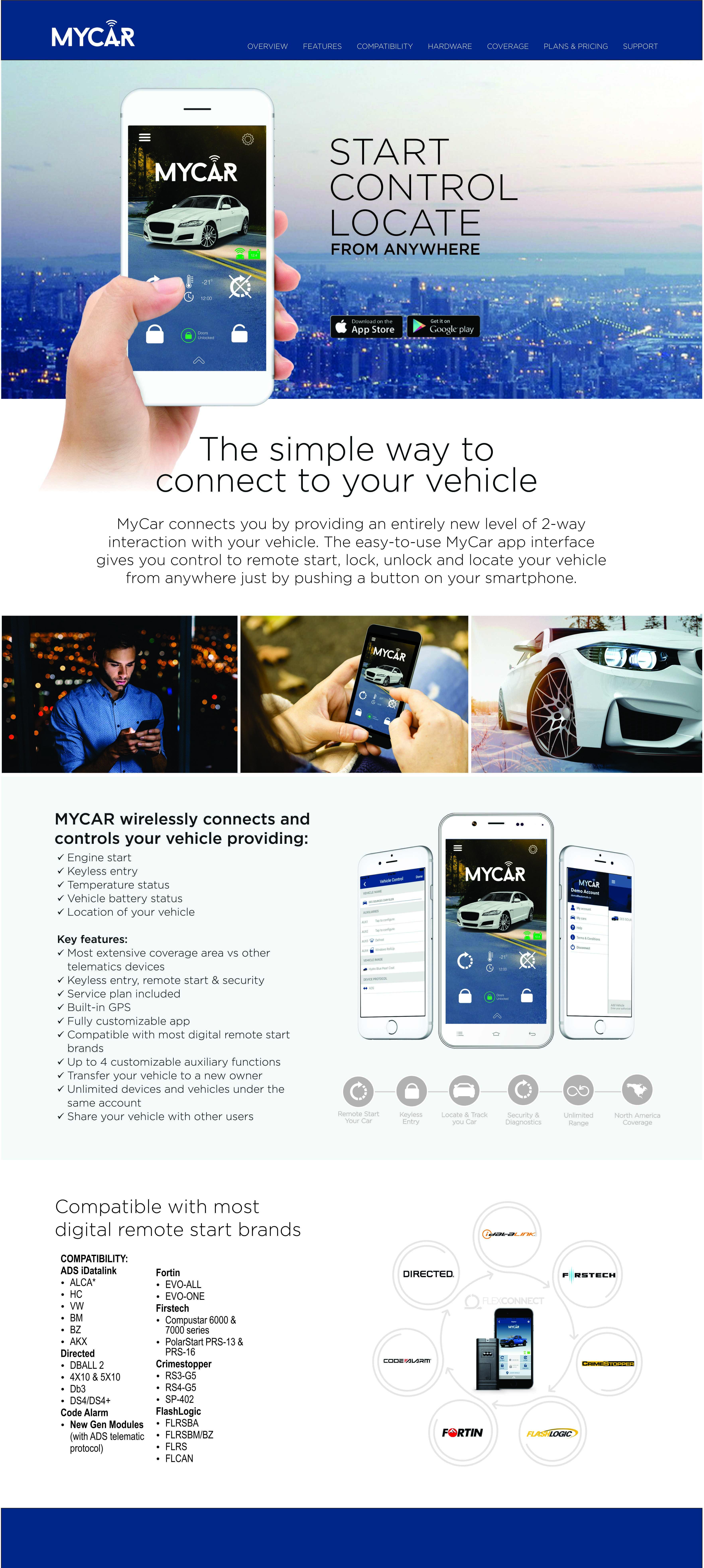 mycar web remote car starter